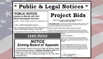 Public & Legal Notices - Project Bids